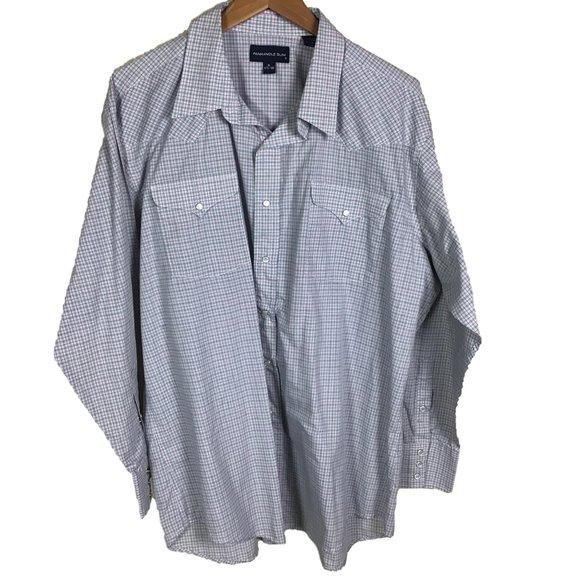 Panhandle Slim Western Shirt Size XL Plaid